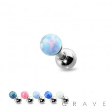 HIGH QUALITY 4MM OPAL 316L SURGICAL STEEL CARTILAGE BARBELL