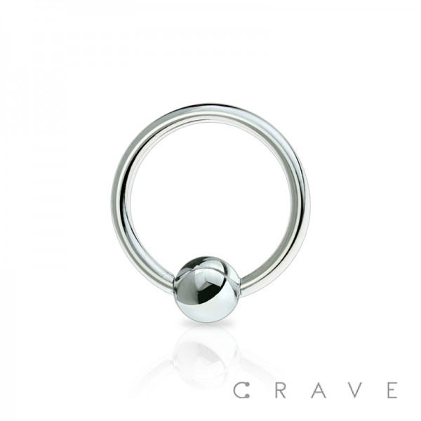 316L SURGICAL STEEL PLATED CAPTIVE BEAD RING