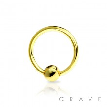GOLD PVD PLATED OVER 316L SURGICAL STEEL CAPTIVE BEAD RING