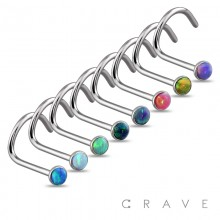 VIBRANT COLORED OPAL PRESS FIT 316L SURGICAL STEEL NOSE SCREWS