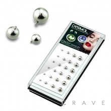 24PCS OF 316L SURGICAL STEEL ASSORTED BASIC ROUND BALL DERMAL TOP PACKAGE