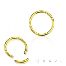 GOLD PLATED OVER 316L SURGICAL STEEL SEGMENT RING