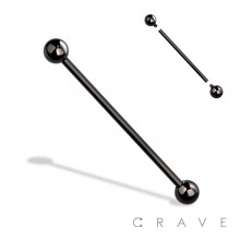 INTERNALLY THREADED BLACK PVD 316L SURGICAL STEEL BARBELL