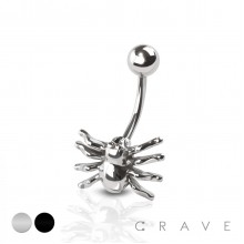 SPIDER 316L SURGICAL STEEL NAVEL RING