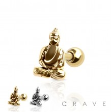 BUDDHA 316L SURGICAL STEEL CARTILAGE BARBELL