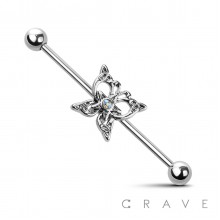 STAR CENTER BUTTERFLY 316L INDUSTRIAL BARBELL