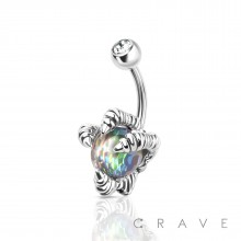 DRAGON'S CLAW 316L SURGICAL STEEL NAVEL RING