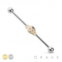 LITTLE MONKEY 316L SURGICAL STEEL INDUSTRIAL BARBELL (ANIMAL)