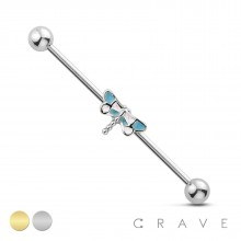DRAGON FLY 316L INDUSTRIAL BARBELL
