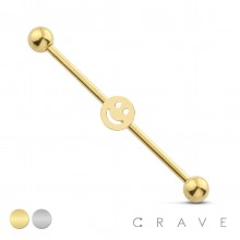 SMILE 316L SURGICAL STEEL INDUSTRIAL BARBELL
