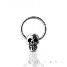 316L SURGICAL STEEL SKULL CAPTIVE BEAD RING