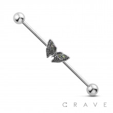 BUTTERFLY 316L SURGICAL STEEL INDUSTRIAL BARBELL