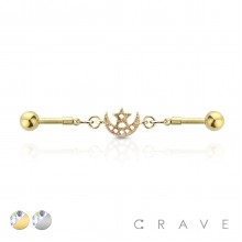 STAR&MOON  LINKED 316L SURGICAL STEEL INDUSTRIAL BARBELL