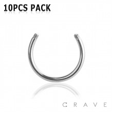 10PCS OF 316L SURGICAL STEEL EXTERNALLY THREADED REPLACEMENT HORSESHOE PACKAGE