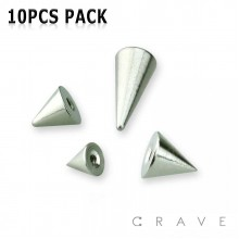 10PCS OF 316L SURGICAL STEEL PLAIN THREADED SPIKE PACKAGE