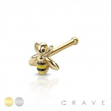BUMBLE BEE 316L SURGICAL STEEL NOSE BONE STUD (5MM BEE SIZE)