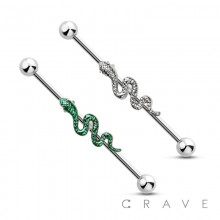 SNAKE  316L SURGICAL STEEL INDUSTRIAL BARBELL